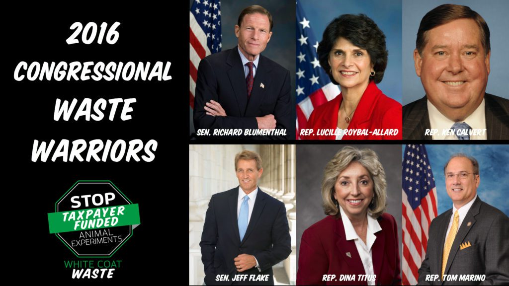 "WCW Announces 2016 ""Congressional Waste Warrior"" Awards – White"